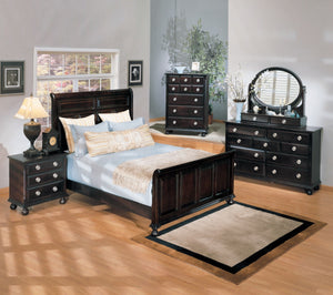 ACME Amherst Queen Bed Espresso - 01790Q-Sleigh Beds-HipBeds.com
