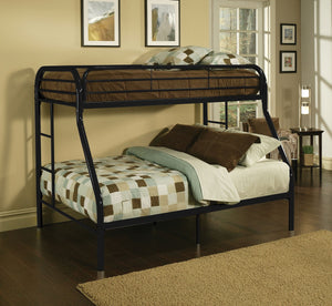 ACME Tritan Twin/Full Bunk Bed Black - 02053BK-Bunk Beds-HipBeds.com