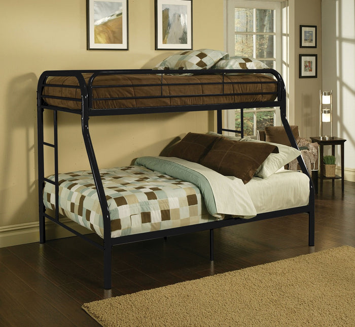 ACME Tritan Twin/Full Bunk Bed Black - 02053BK