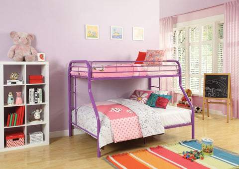 ACME Tritan Twin/Full Bunk Bed Purple - 02053PU-Bunk Beds-HipBeds.com