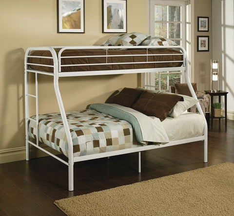 ACME Tritan Twin/Full Bunk Bed White - 02053WH-Bunk Beds-HipBeds.com