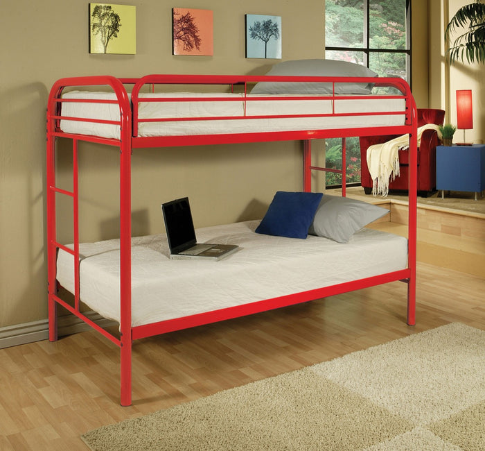 ACME Thomas Twin/Twin Bunk Bed Red - 02188RD
