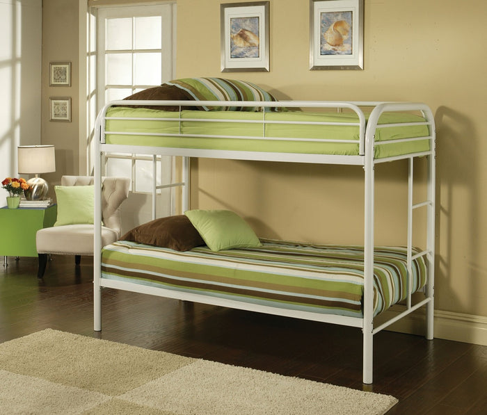ACME Thomas Twin/Twin Bunk Bed White - 02188WH