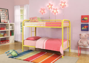 ACME Thomas Twin/Twin Bunk Bed Yellow - 02188YL-Bunk Beds-HipBeds.com