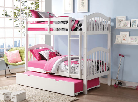 ACME Heartland Twin/Twin Bunk Bed White - 02354-Bunk Beds-HipBeds.com