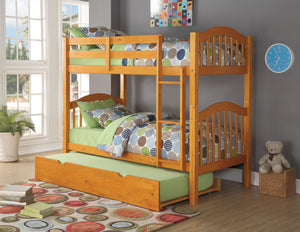 ACME Heartland Twin/Twin Bunk Bed Honey Oak - 02359-Bunk Beds-HipBeds.com