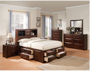 ACME Manhattan Queen Bed w/Storage Espresso - 04070Q-Platform Beds-HipBeds.com
