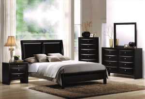 ACME Ireland I Queen Bed Black PU & Black - 04153Q-Platform Beds-HipBeds.com
