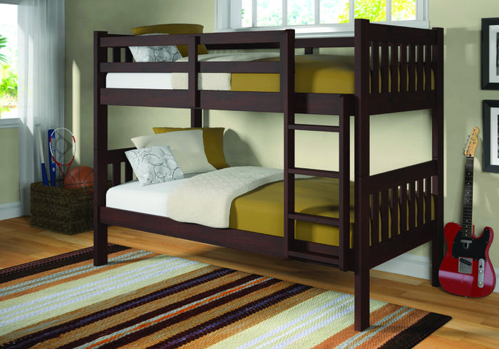 Donco Kids T/T Bunk Bed Dark Cappuccino 1010-3TTCP