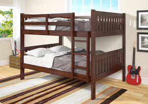 Donco Kids F/F Bunk Bed Dark Cappuccino 1015-3FFCP-Bunk Beds-HipBeds.com