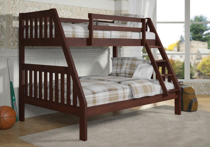 Donco Kids T/F Bunk Bed Dark Cappuccino 1018-3TFCP