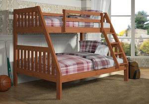 Donco Kids T/F Cinnamon Bunk Cinnamon 1018-3CN-Bunk Beds-HipBeds.com