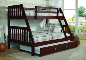Donco Kids T/F Bunk Bed Dark Cappuccino 1018-3TFCP-Bunk Beds-HipBeds.com
