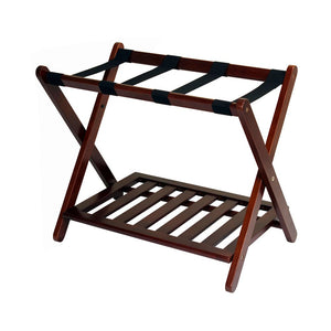 Casual Home Luggage Rack with Shelf-Natural - 102-20-Luggage Rack-HipBeds.com