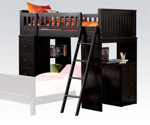 ACME Willoughby Loft Bed Black - 10980A-Loft Beds-HipBeds.com