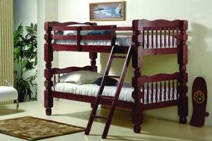 Donco Kids T/T Jumbo Turned Post Bunk Bed 1110-2MT/T-Bunk Beds-HipBeds.com