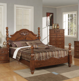 ACME Ponderosa Queen Bed Walnut - 01720Q-Platform Beds-HipBeds.com