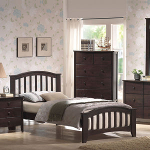 ACME San Marino Twin Bed Dark Walnut - 04980T-Panel Beds-HipBeds.com