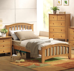 ACME San Marino Full Bed Maple - 08967F-Panel Beds-HipBeds.com