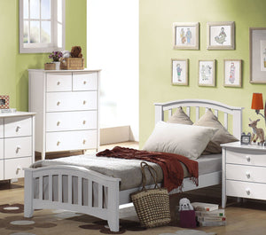 ACME San Marino Twin Bed White - 09150T-Panel Beds-HipBeds.com