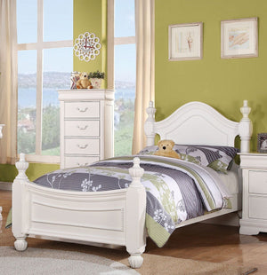 ACME Classique Full Bed White - 30120F-Panel Beds-HipBeds.com