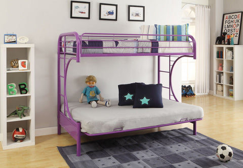 ACME Eclipse Twin/Full/Futon Bunk Bed Purple - 02091W-PU-Bunk Beds-HipBeds.com