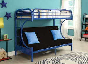ACME Eclipse Twin/Full/Futon Bunk Bed Navy - 02091W-NV-Bunk Beds-HipBeds.com