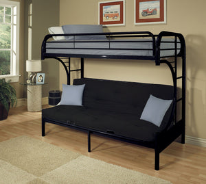 ACME Eclipse Twin XL/Queen/Futon Bunk Bed Black - 02093BK-Bunk Beds-HipBeds.com