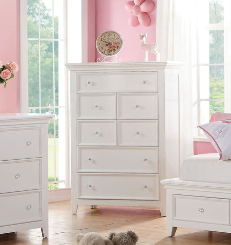 ACME Lacey White 7 Drawer Chest - 30602-Chests-HipBeds.com