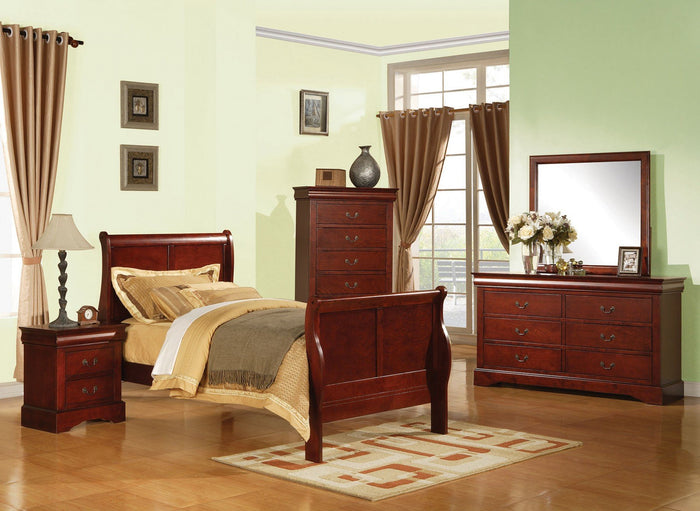 ACME Louis Philippe III Twin Bed Cherry - 19530T