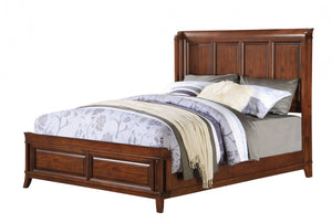 ACME Midway Queen Bed (Panel) Cherry - 20970Q-Platform Beds-HipBeds.com