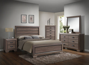 ACME Lyndon Eastern King Bed Weathered Gray Grain - 26017EK-Panel Beds-HipBeds.com