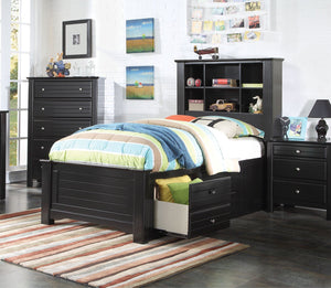 ACME Mallowsea Full Bed w/Storage Rail Black - 30385F-Platform Beds-HipBeds.com