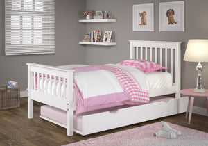 Donco Kids Twin Misson Bed White 119-TW-Panel Beds-HipBeds.com