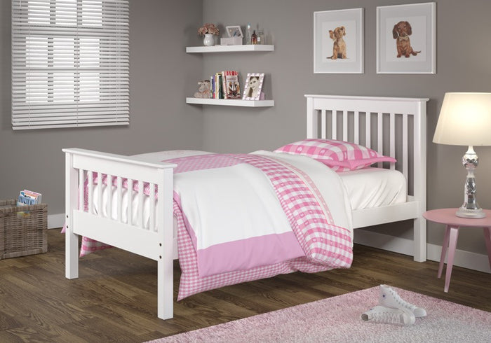 Donco Kids Twin Misson Bed White 119-TW