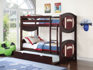 ACME All Star Football Twin/Twin Bunk Bed Espresso - 11956-Bunk Beds-HipBeds.com