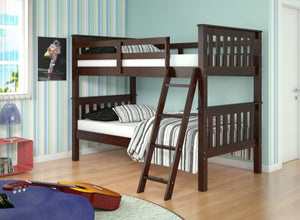 Donco Kids T/T Bunk Bed Tilted Ladder 120-1TTCP-Bunk Beds-HipBeds.com