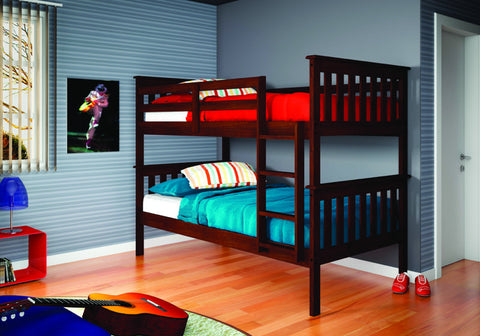 Donco Kids T/T Mission Bunk Bed 120-3CP-Bunk Beds-HipBeds.com