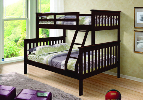 Donco Kids T/F Mission Bunk Bed 122-3CP-Bunk Beds-HipBeds.com