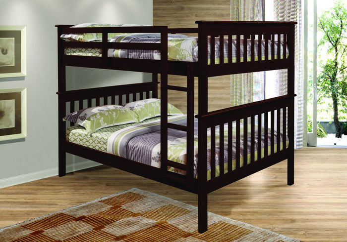 Donco Kids F/F Mission Bunk Bed Dark 123-3CP
