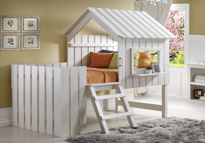 Donco Kids Twin Cabana Loft Bed Rustic Pearl 1350TLRP