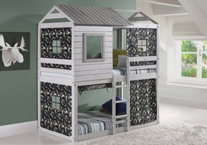 Donco Kids Deer Blind Bunk Loft Bed Light Grey 1370-TTLG-Bunk Beds-HipBeds.com