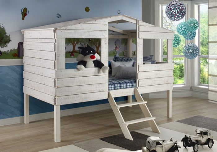 Donco Kids Twin Tree House Loft Bed 1380-TLRS