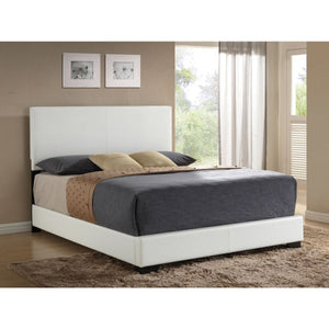 ACME Ireland III Eastern King Bed (Panel) White PU - 14387EK-Platform Beds-HipBeds.com
