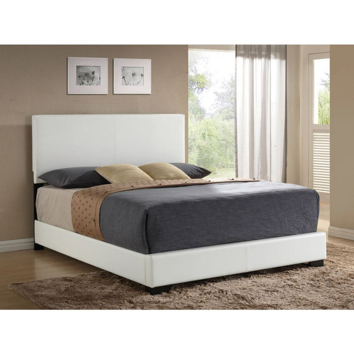 ACME Ireland III Full Bed (Panel) White PU - 14395F