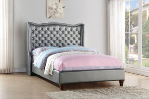 Donco Kids Full Madison Bed Silver 1505FS-Panel Beds-HipBeds.com