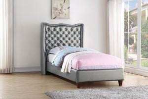 Donco Kids Twin Madison Bed Silver 1505TS-Panel Beds-HipBeds.com