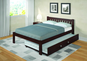 Donco Kids Full Mission Bed Dark Cappuccino 1510-FCP-Panel Beds-HipBeds.com