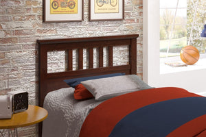 Donco Kids Twin Headboard Cappuccino 160TCP-Headboards & Footboards-HipBeds.com