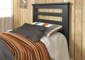 Donco Kids Twin Headboard Black Brown 170TBB-Headboards & Footboards-HipBeds.com